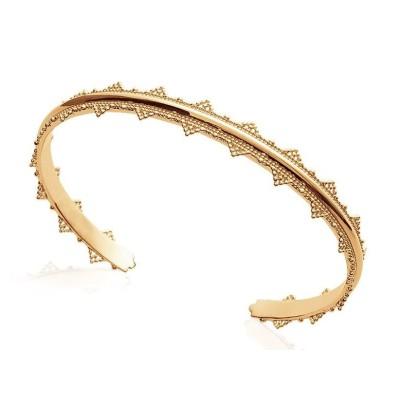 Bracelet Jonc en plaqué or pour femme - Voyage - Lyn&Or Bijoux