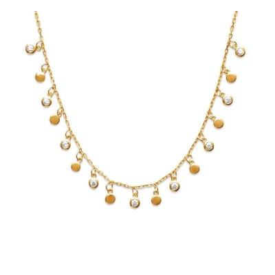 Collier oriental en plaqué or et zircon pour femme