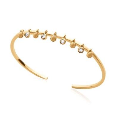 Bracelet Jonc oriental en plaqué or et zircon pour femme - Ybel - Lyn&Or Bijoux