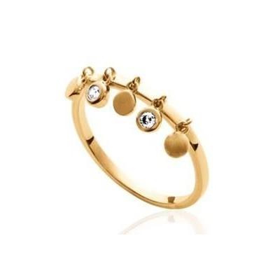 Bague orientale en plaqué or et zircon pour femme - Ybel - Lyn&Or Bijoux