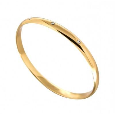 Bracelet Jonc finition dorée, Swarovski pour femme - Pureté - Lyn&Or Bijoux
