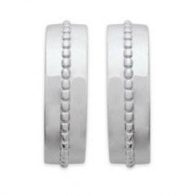 Créoles en argent rhodié 16 mm pour femme - Chino - Lyn&Or Bijoux