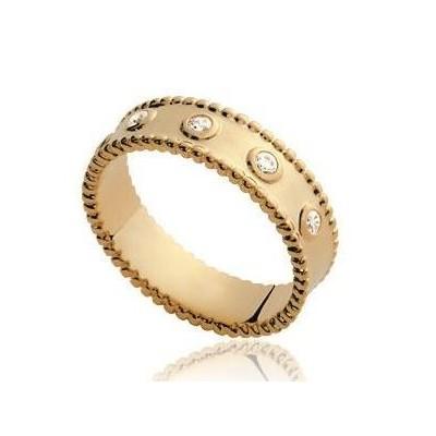Bague en plaqué or et zircon pour femme - Suzy - Lyn&Or Bijoux