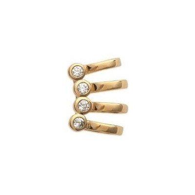 Bague d'oreille pour femme en plaqué or et zircon - Izana - Lyn&Or Bijoux