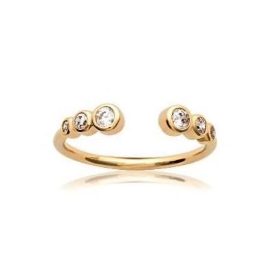 Bague en plaqué or et zircon pour femme - Izana - Lyn&Or Bijoux