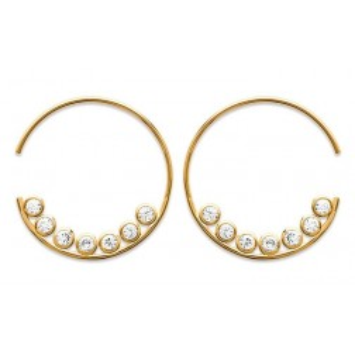 Créoles en plaqué or et zircon pour femme - Izana - Lyn&Or Bijoux