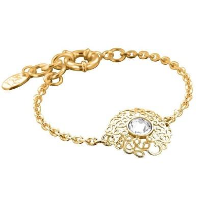Bracelet de Créateur, plaqué or et cristal de Swarovski, Rosace