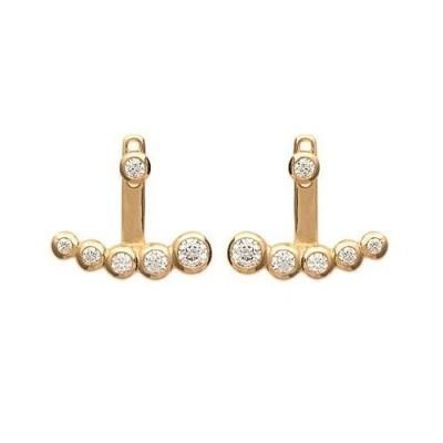 Lobes d'oreilles en plaqué or et zircon pour femme