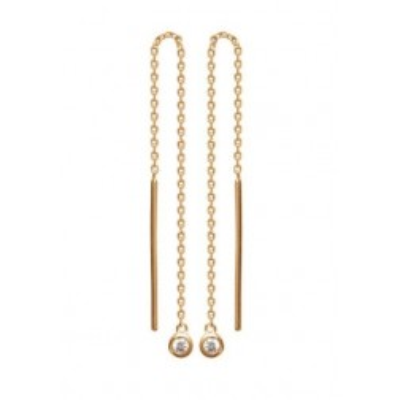 Chaînes d'oreilles en plaqué or et zircon pour femme