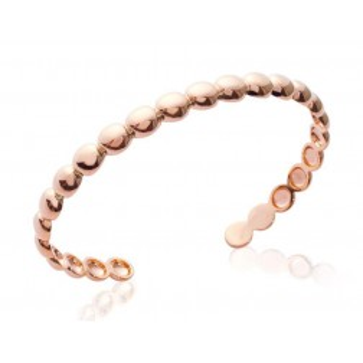 bracelet jonc plaqué or rose pour femme