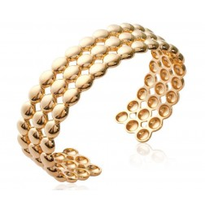 Bracelet manchette perlé en plaqué or pour femme - Solia - Lyn&Or Bijoux