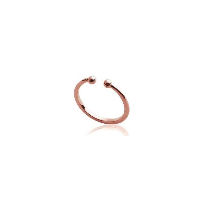 Bague ouverte en plaqué or rose, Cybelle - Bijoux femme