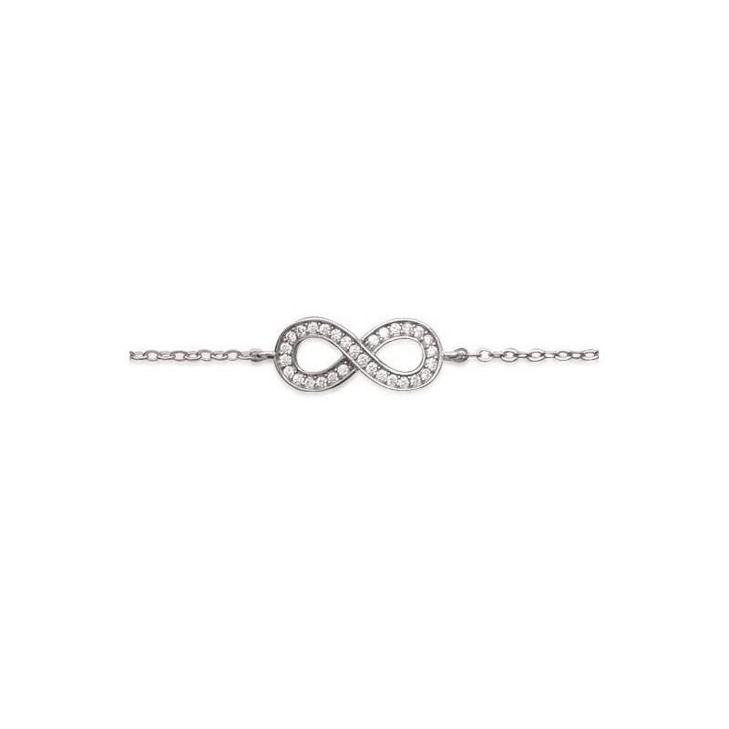bracelet argent infini femme