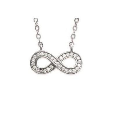 Collier Infini en argent et zircon pour femme - Mybelle - Lyn&Or Bijoux