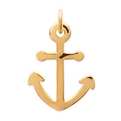 Pendentif Ancre marine pour homme en plaqué or - Voyage - Lyn&Or Bijoux