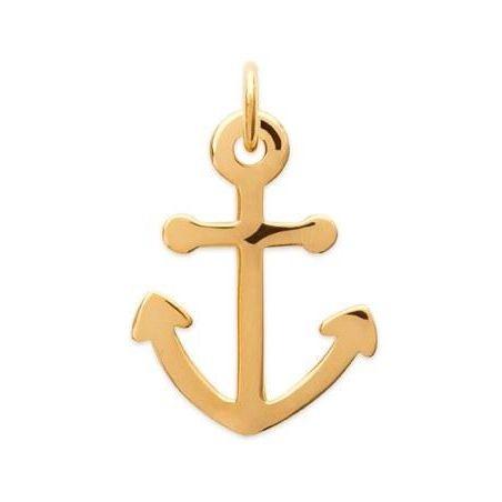 Pendentif Ancre marine pour homme en plaqué or, Voyage