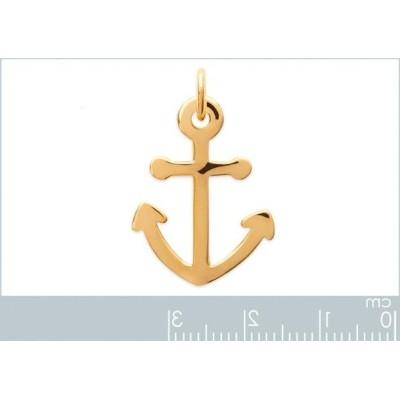 Pendentif Ancre marine en plaqué or, Voyage - Bijoux homme