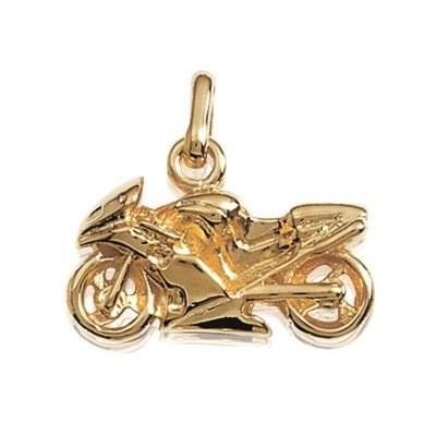 Pendentif Moto pour homme en plaqué or, Cylindres
