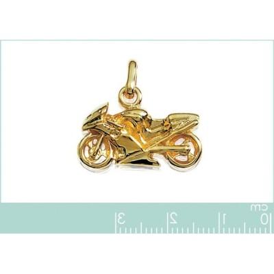 Pendentif Moto pour en plaqué or, Cylindres - Bijoux homme