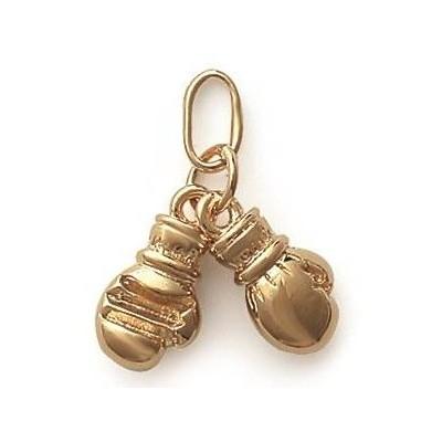 Pendentif en plaqué or, Gants de boxe - Bijoux Homme