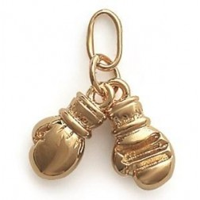 Pendentif boxe pour homme en plaqué or, Gants de boxe - Bijoux Homme