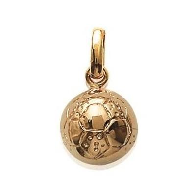 Pendentif en plaqué or, Ballon de Foot - Bijoux homme