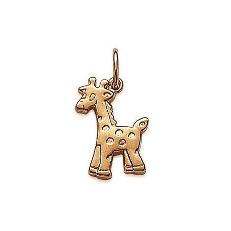 Pendentif pour enfant en plaqué or - Girafe - Lyn&Or Bijoux