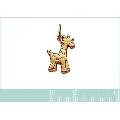 Pendentif pour enfant en plaqué or, Girafe