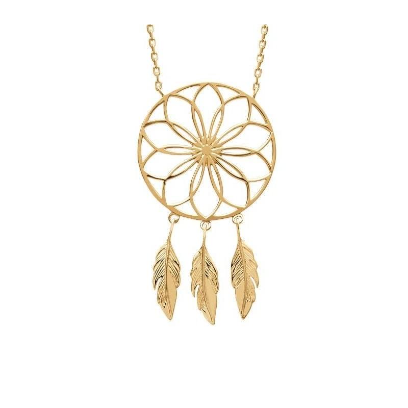 Collier attrape-rêve en plaqué or pour femme - Sybille - Lyn&Or Bijoux