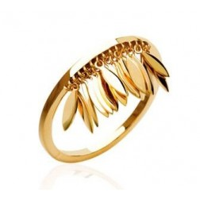 bague pour femme plume en plaqué or, Zana - Bijoux femme