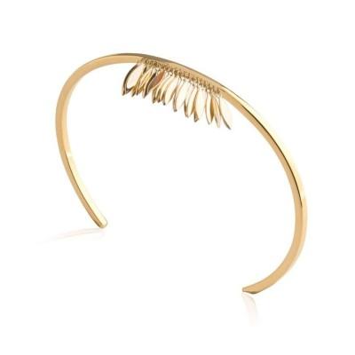 bracelet pour femme Jonc plume en plaqué or, Zana - Bijoux femme