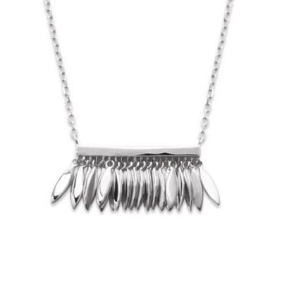Collier plume en argent rhodié - Zana - Lyn&Or Bijoux
