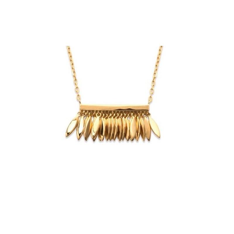 Collier plume en plaqué or pour femme - Zana - Lyn&Or Bijoux