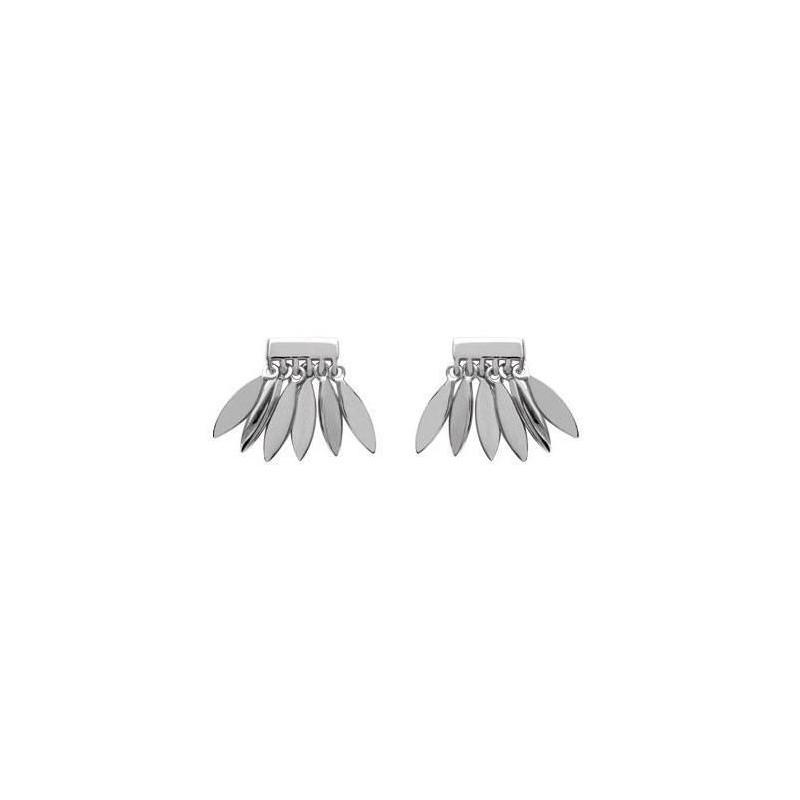 Boucles d'oreille pour femme, breloques plumes en argent - Zana - Lyn&Or Bijoux