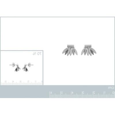 Boucles d'oreilles plume en argent, Zana - Bijoux femme