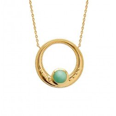 Collier aventurine verte et plaqué or pour femme - Elouna - Lyn&Or Bijoux