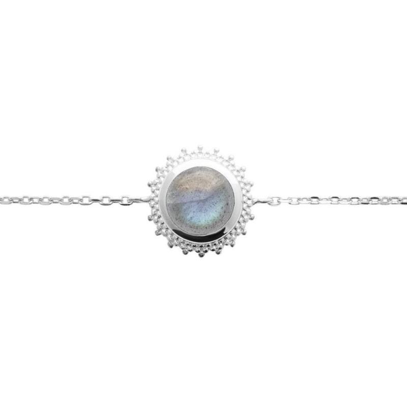 Bracelet labradorite et argent rhodié - Bijoux Femme