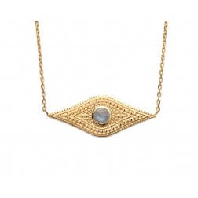 Collier en plaqué or et labradorite - Bijoux Femme