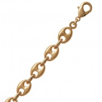 Bracelet Grains de Café en plaqué or, 9 mm