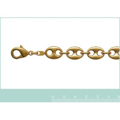 Bracelet Grains de Café en plaqué or jaune 18 carats, 10,5 mm