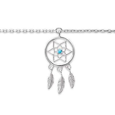Bracelet de cheville femme en argent - Attrape-rêve - Lyn&Or Bijoux