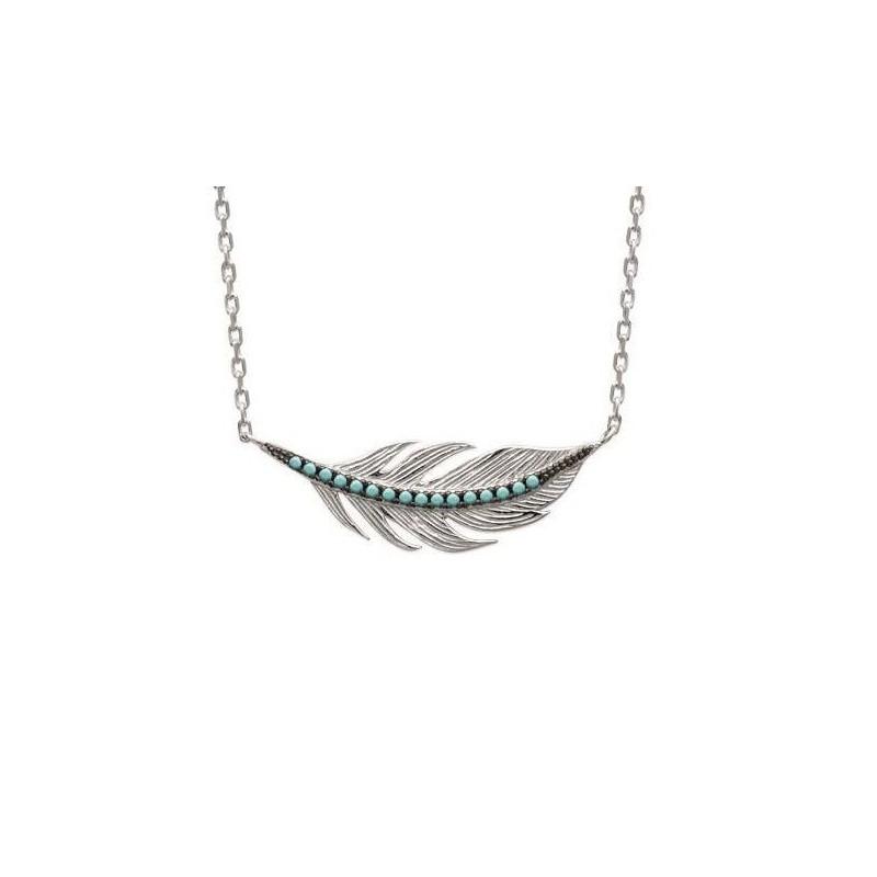 Collier en argent et pierre turquoise - Fanny - Lyn&Or Bijoux