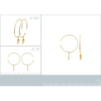 Créoles en plaqué or pour femme, Boucles d'oreilles femme