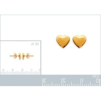 Boucles oreilles en plaqué or pour fillette, Petit coeur