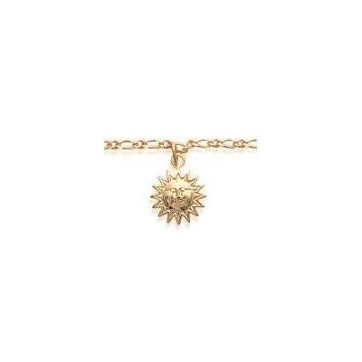 Bracelet de cheville en plaqué or jaune 18k, Soleil