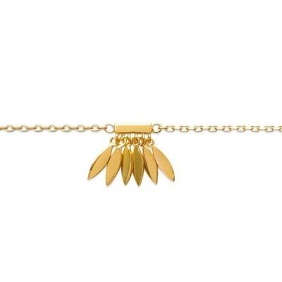 Bracelet de cheville en plaqué or jaune 18k, Zana