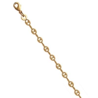Bracelet de cheville en plaqué or jaune 18k, Graine de café