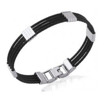 Bracelet jonc pour homme en acier noir - Costa Rica