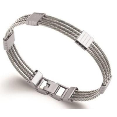 Bracelet rigide pour homme en acier, Bijoux Homme