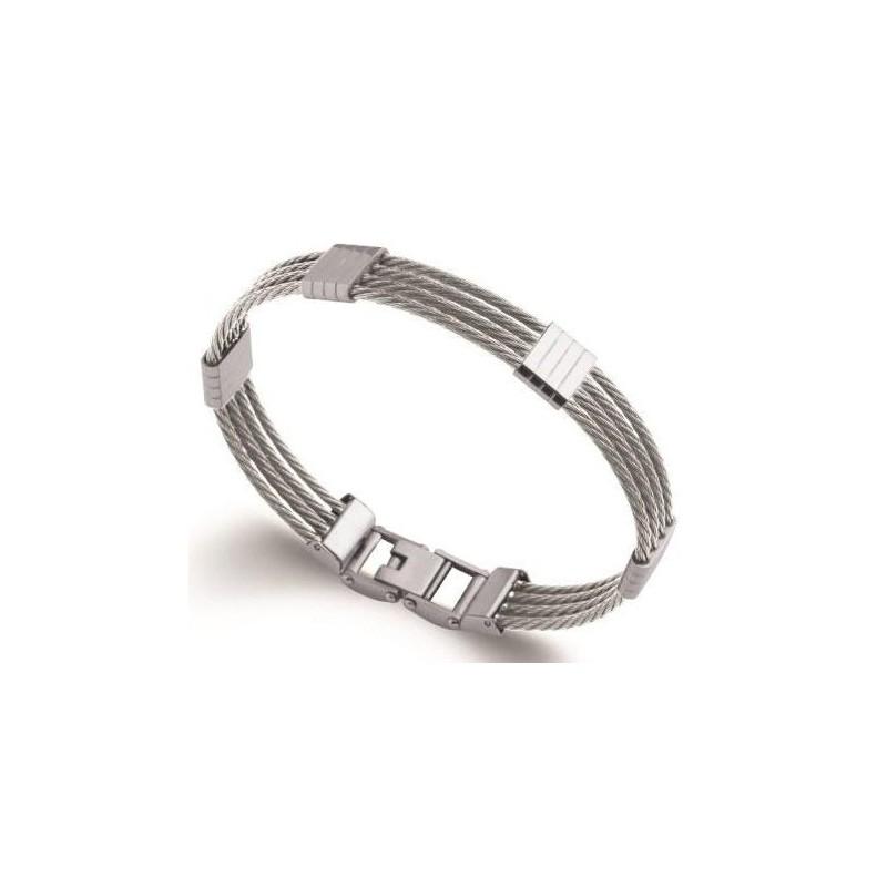 Bracelet jonc pour homme en acier - Costa Rica - Lyn&Or Bijoux